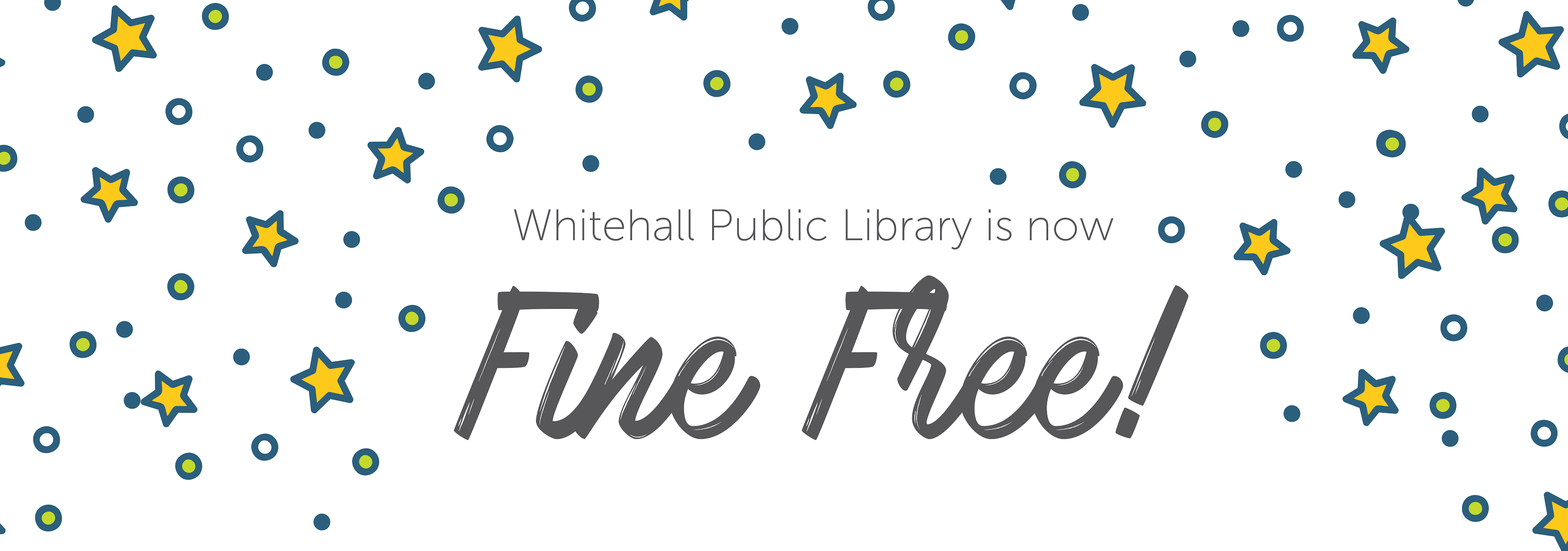 Whitehall Public Library is Fine Free